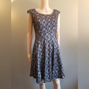 Black Lace Overlay Dress Size Small